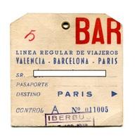 Ligne De Bus IBERBUS Valence-Barcelone-Paris - Vers 1970 - Bus