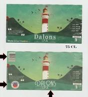 Etiquette  Ile LA REUNION ,DALONS 75cl, Ancienne/Nouvelle ,Biere Birra Cerveza Piwo Pilsen étiquettes - Bière