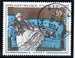 """TABLEAUXE - 65c  """"Madame Manet Au Canapé Bleu De Manet""""  N° 1364 Obl. - Francia"""