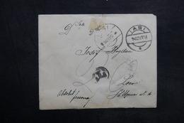ROUMANIE - Enveloppe De Iasi Pour Loco En 1913 , Affranchissement Au Verso - L 33605 - 1881-1918: Charles I