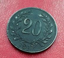 ALLEMAGNE 20 PFENNIG  1917   N° 220 D - [ 2] 1871-1918: Deutsches Kaiserreich