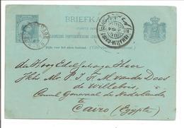 Briefkaart 5cent Hangend Haar Aan Nederlandse Consul Egypte.Ambulant ISMAILIA-CAIRE 18.4.94 - Ganzsachen