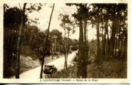 N°73734 -cpa Longeville -route E La Plage- - Autres Communes