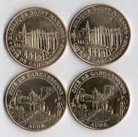 4 JETONS .2 BASILIQUE SAINT NAZAIRE CITE DE CARCASSONNE AUDE MDP 2010.2011.2 CITE DE CARCASSONNE 2010.2012 - Autres