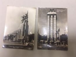 2 CPA Anciennes Exposition Internationale Paris 1937 Pavillon De L'allemagne Et De L'URSS Non Circulées - Expositions