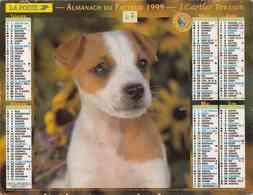 °° Calendrier Almanach La Poste 1999 Cartier Bresson - Dépt 47 - Chiens - Calendriers