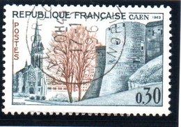 """SITES ET MONUMENTS - 30c  """"Eglise St Pierre Et Château, à Caen""""  N° 1389 Obl. - Oblitérés"""