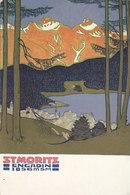 St. Moritz - Künstlerische Werbepostkarte - 1913         (P-175-60622) - GR Grisons