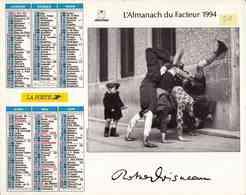 °° Calendrier Almanach La Poste 1994 Oberthur - Dépt 50 - Photos Doisneau Enfants - Calendriers