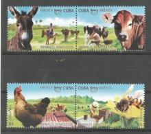 Cuba 2018 America UPAEP Domestic Animals (Chicken, Bees, Cow, Donkey) 4v MNH - Cuba