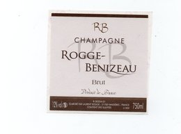 "Etiquette De Champagne     ""     Rogge-Benizeau - Champagne"
