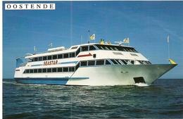 Transport. CPM. Bateaux. Seastar. Explorer La Côte Belge Entre Ostende Et Nieuport (foto Mike Louagie) - Ferries