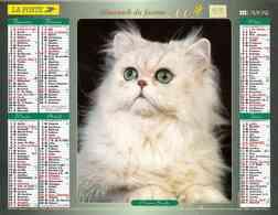 °° Calendrier Almanach La Poste 2003 Lavigne - Dépt 59 - Chats - Calendars