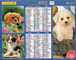 °° Calendrier Almanach La Poste 2005 Lavigne - Dépt 55 - Chiens Et Chats - Calendars