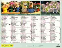°° Calendrier Almanach La Poste 2005 Oberthur - Dépt 51 - Chatons Et Chiots - Calendars
