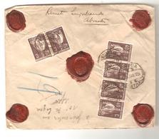 PR6592/ Portugal Registered Cover Abrantes 1925 Via Lisboa To Belgium Arlon - 1910-... République