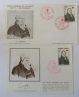 France - 2 X 1er Jour Croix-Rouge (1 Enveloppe Et 1 Carte Postale) Corvisart 12 Décembre 1964 - FDC