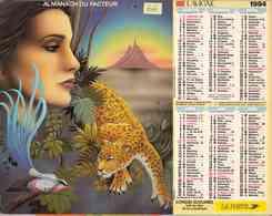 °° Calendrier Almanach La Poste 1994 Lavigne - Dépt 66 - Portraits De Femmes - Calendriers