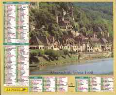 °° Calendrier Almanach La Poste 1998 Oberthur - Dépt 64 - Paysages De Dordogne Et De Savoie - Calendriers