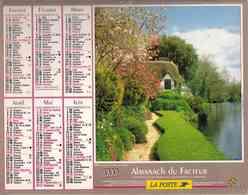 °° Calendrier Almanach La Poste 1999 Oller - Dépt 64 - Chaumière Et Moulin - Calendriers