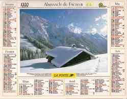 °° Calendrier Almanach La Poste 1999 Oller - Dépt 64 - Paysages Des Alpes - Calendriers