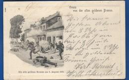 Guerre 1870 Gruss Von Der Alten Goldenen BREMM   Animées  écrite En 1902 - Other Wars