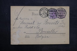 ALLEMAGNE - Entier Postal + Complément De Militsch Pour Bruxelles En 1888 - L 33611 - Entiers Postaux