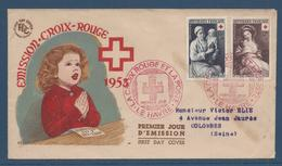 France FDC - Premier Jour - Croix Rouge - Le Havre - 1953 - FDC