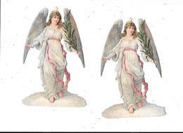 Lot De 2 Découpis Gauffrés, Femme Ange, - Angeli