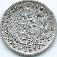 Peru - 1905 -½ Dinero - KM206.2 - Peru