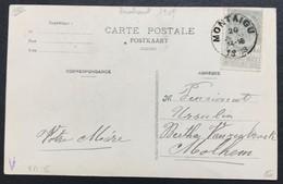 N. 81, 1 Cent Gris, Obl. Carte Postale De Montaigu 20/7/1908, NIPA 175 - 1893-1907 Wappen
