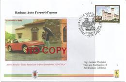 Vignola 15.6.2008 E' Tempo Di Ciliegie, Raduno Auto Ferrari, Ambra Borelli E Lucio Battisti Con Dino Pininfarina Ginevra - 6. 1946-.. Repubblica