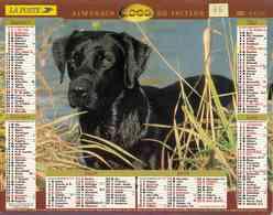 °° Calendrier Almanach La Poste 2000 Lavigne - Dépt 75 - Chiens - Calendriers