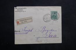 ROUMANIE - Enveloppe En Recommandé De Bucarest Pour Jasi En 1903 - L 33617 - 1881-1918: Charles I