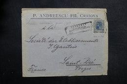 ROUMANIE - Enveloppe Commerciale De Bucarest Pour La France En 1919 Avec Cachet De Censure - L 33618 - 1918-1948 Ferdinand, Carol II. & Mihai I.