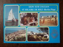 L21/756  Saint Hilaire De Riez .  Sion Sur L'Océan . Merlin Plage - Saint Hilaire De Riez