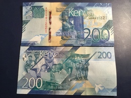 KENIA New 200 Shilings Just Issued. 2019.    Pnew.  UNC - Kenia