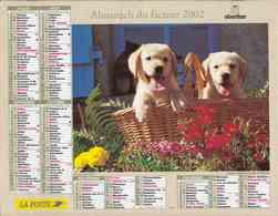 °° Calendrier Almanach La Poste 2002 Oberthur - Dépt 79 - Chiens Et Chats - Calendars
