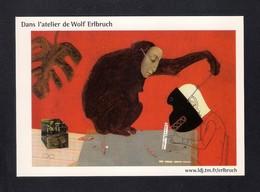 Carte à Pub.   Dans L'atelier De Wolf Erlbruch, Artiste Du Livre De Jeunesse Allemand. - Artisti