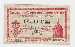 50 Cts  Montpellier 9 Août  1915 Pick  6  Neuf - Chambre De Commerce