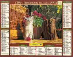 °° Calendrier Almanach La Poste 2003 Oller - Dépt 78 - Chatons - Calendars