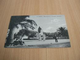 CARTE POSTALE ITALIE/ S REMO MONUMENTO GIUSEPPE GARIBALDI  /      VOYAGEE 3 - Italia