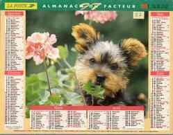 °° Calendrier Almanach La Poste 1997 Lavigne - Dépt 87 - Chien Et Chat - Calendars