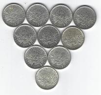 FRANCE SEMEUSE ARGENT 5 Francs X10 1965 - France