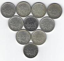 FRANCE SEMEUSE ARGENT 5 Francs X10 1966 - France