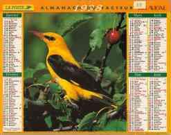 °° Calendrier Almanach La Poste 1998 Lavigne - Dépt 88 - Oiseaux - Calendriers