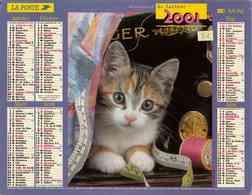 °° Calendrier Almanach La Poste 2001 Lavigne - Dépt 81 - Chiens Et Chat - Calendars