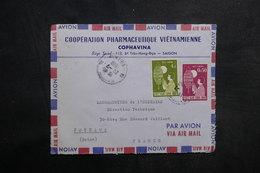 VIÊT-NAM - Enveloppe Commerciale De Saïgon Pour La France En 1950 , Affranchissement Plaisant - L 33627 - Vietnam