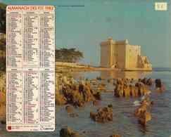 °° Calendrier Almanach PTT 1982 Oberthur - Dépt 81 - Paysages Des Alpes Maritimes Et Du Finistère - Calendars