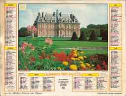 °° Calendrier Almanach PTT 1983 Lavigne - Dépt 81 - Château Et Voitures Anciennes - Calendars